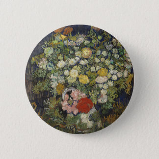 Bouquet of Flowers in a Vase 2 Inch Round Button