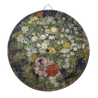 Bouquet of Flowers in a Vase Dartboard