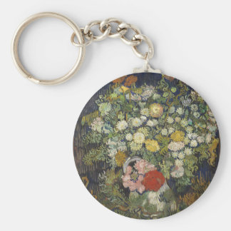 Bouquet of Flowers in a Vase Keychain