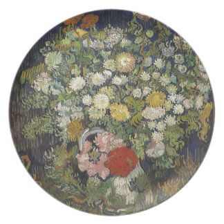 Bouquet of Flowers in a Vase Plate