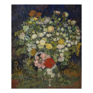 Bouquet of Flowers in a Vase Poster