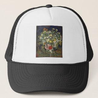 Bouquet of Flowers in a Vase Trucker Hat