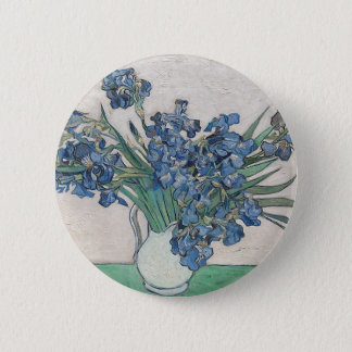 Bouquet of Flowers in Blue Shade 2 Inch Round Button