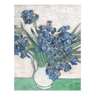 Bouquet of Flowers in Blue Shade Letterhead