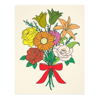 Bouquet of Flowers Letterhead
