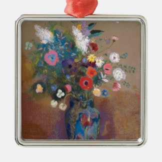 Bouquet of Flowers - Odilon Redon Metal Ornament