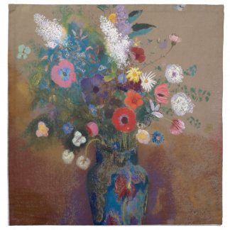 Bouquet of Flowers - Odilon Redon Napkin