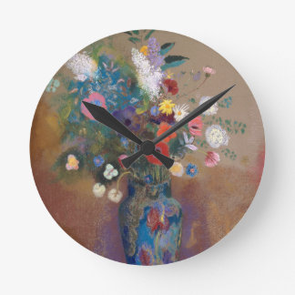 Bouquet of Flowers - Odilon Redon Round Clock