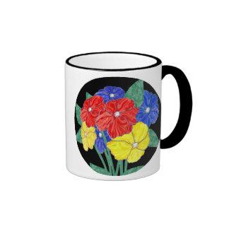 Bouquet of flowers ringer coffee mug