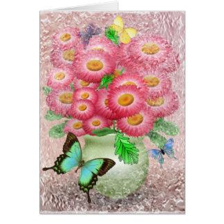 """Bouquet of Flutterbys"" Card"