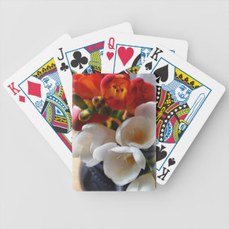 bouquet of freesias bicycle playing cards