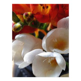 bouquet of freesias letterhead