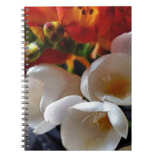 bouquet of freesias notebook