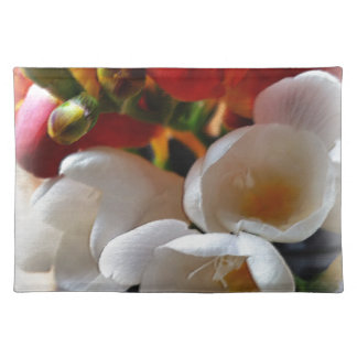bouquet of freesias placemat