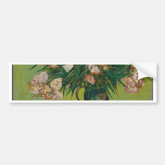 Bouquet of Pink Flowers in Vase Bumper Sticker