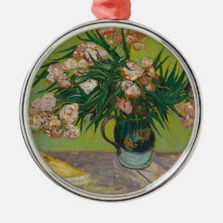Bouquet of Pink Flowers in Vase Metal Ornament