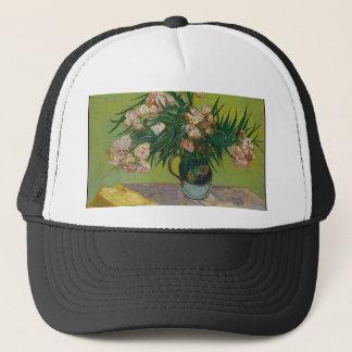 Bouquet of Pink Flowers in Vase Trucker Hat
