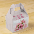 Bouquet Of Pink Roses 90th Birthday Favor Box