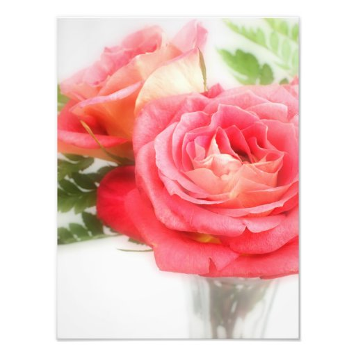 Bouquet Of Pink Roses in a Vase Photo Art