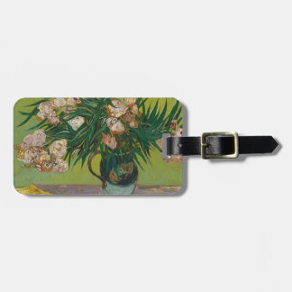 Bouquet of red roses luggage tag