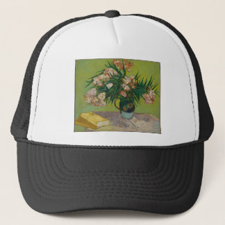 Bouquet of red roses trucker hat