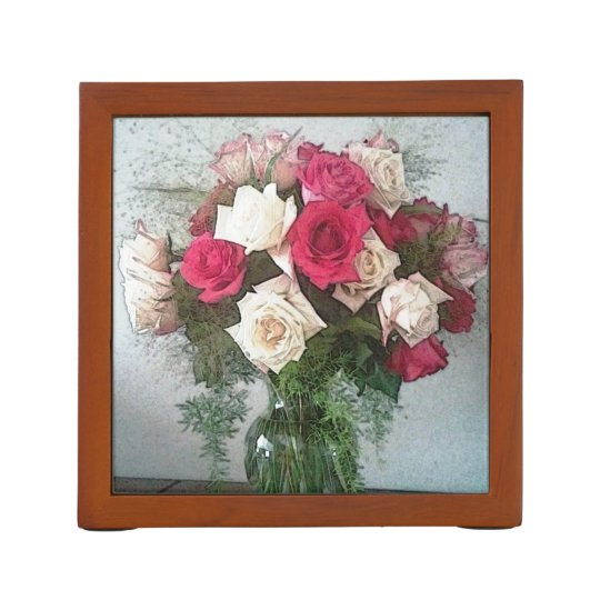 Bouquet Of Roses Desk Organizers