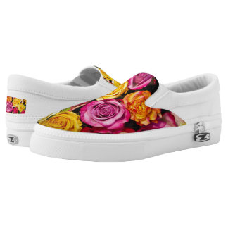 Bouquet of Roses Floral Slip-On Sneakers