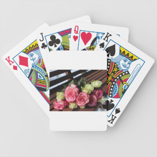 Bouquet Of Roses Pink Roses White Roses Bouquet Bicycle Playing Cards