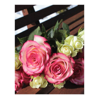 Bouquet Of Roses Pink Roses White Roses Bouquet Letterhead