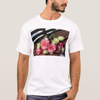 Bouquet Of Roses Pink Roses White Roses Bouquet T-Shirt