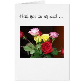 Bouquet of Roses Thinking Of You Card