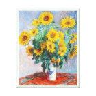 Bouquet of Sunflowers, 1880 Claude Monet Canvas Print