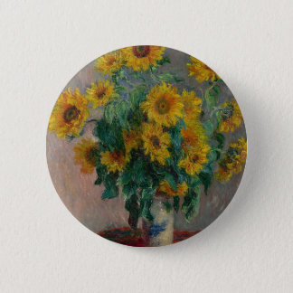 Bouquet of Sunflowers 2 Inch Round Button