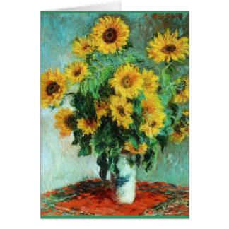 Bouquet of Sunflowers by Claude Monet Card