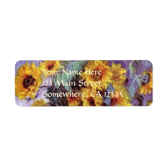 Bouquet of Sunflowers by Claude Monet, Vintage Art