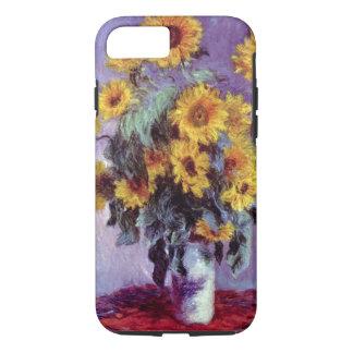Bouquet of Sunflowers by Claude Monet, Vintage Art iPhone 8/7 Case