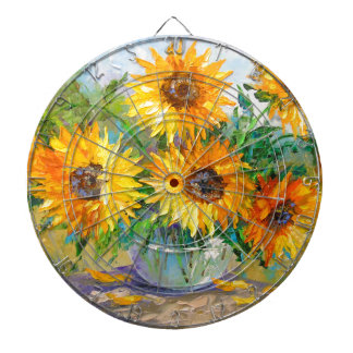 Bouquet of sunflowers dartboard