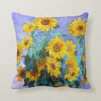 Bouquet of Sunflowers Impressionism Throw Pillow