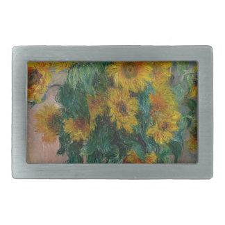Bouquet of Sunflowers Rectangular Belt Buckles
