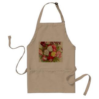 Bouquet of sweet pea flowers standard apron