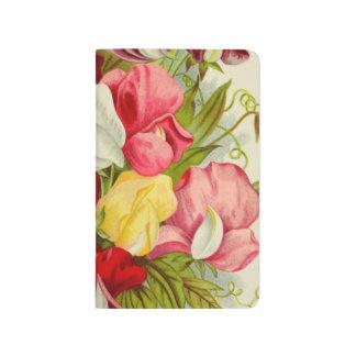 Bouquet of sweet peas journal