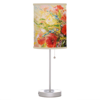 Bouquet of torrid flowers Fine Art Table Lamp