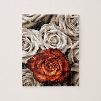 Bouquet of white and Red roses Jigsaw Puzzle