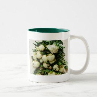 Bouquet of White Peony Buds Mug