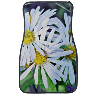 Bouquet of Wild White and Yellow Daisies Car Mat
