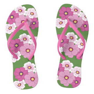Bouquet pink Flowers Flip Flops