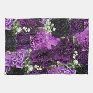 Bouquet Purple Carnations Kitchen Towel