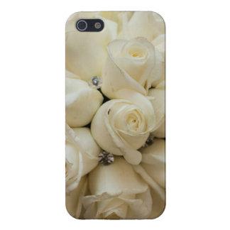 Bouquet renversant de mariage de rose blanc coque iPhone 5