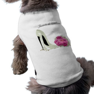 Bouquet Roses and Wedding Stiletto Gifts Dog Tshirt