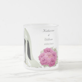 Bouquet Roses and Wedding Stiletto Gifts Coffee Mugs